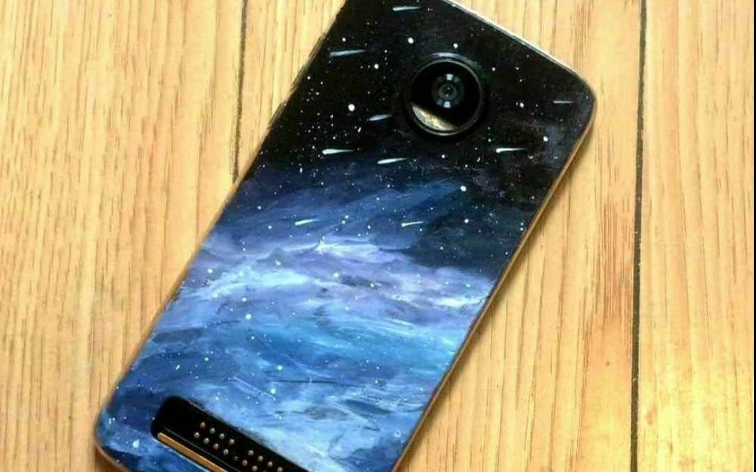 """丙烯-手绘""""星空手机壳"""