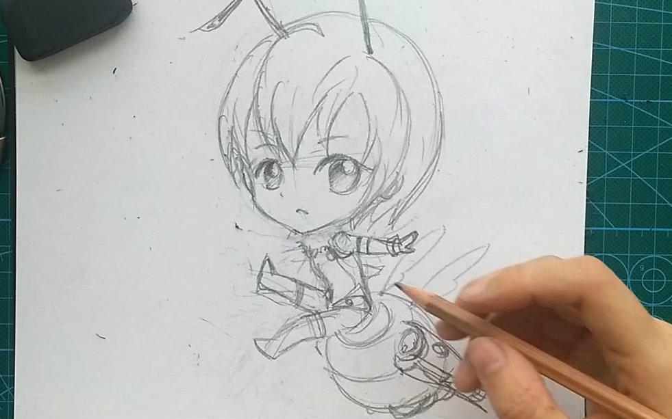 酱~~《雏蜂》q版人物手绘