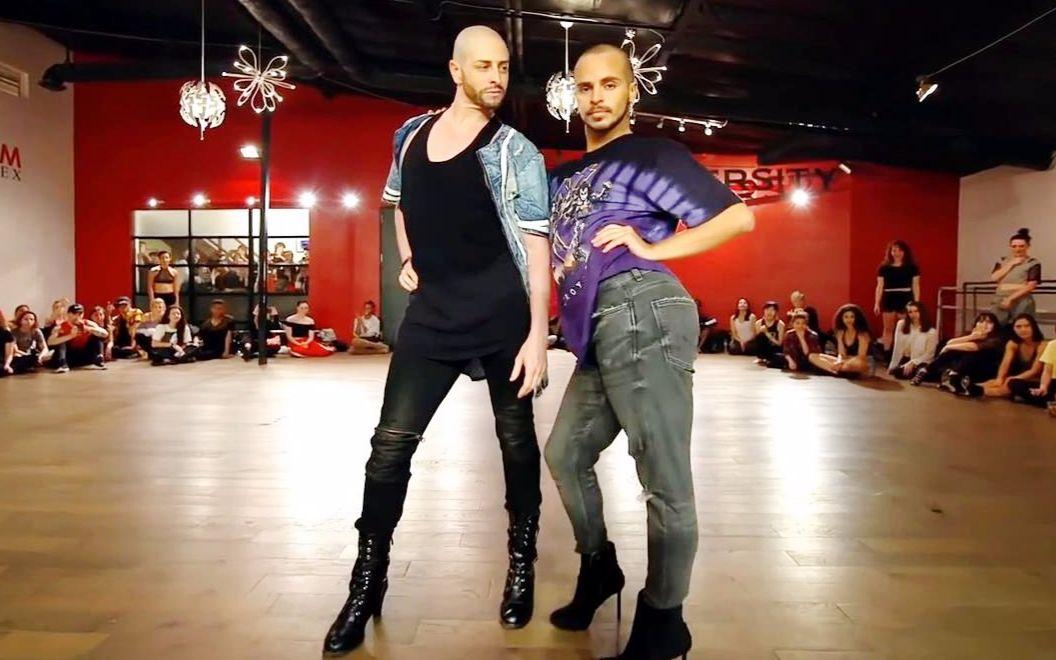 【男人骚起来真可怕】高跟鞋大师Yanis+Brian性感合作编舞水果姐Swish Swish