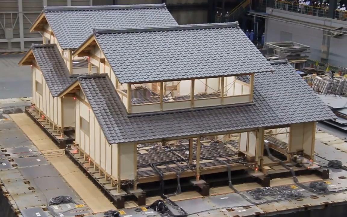 榫卯结构木作房屋与砖混和框架结构房屋的1比1模型