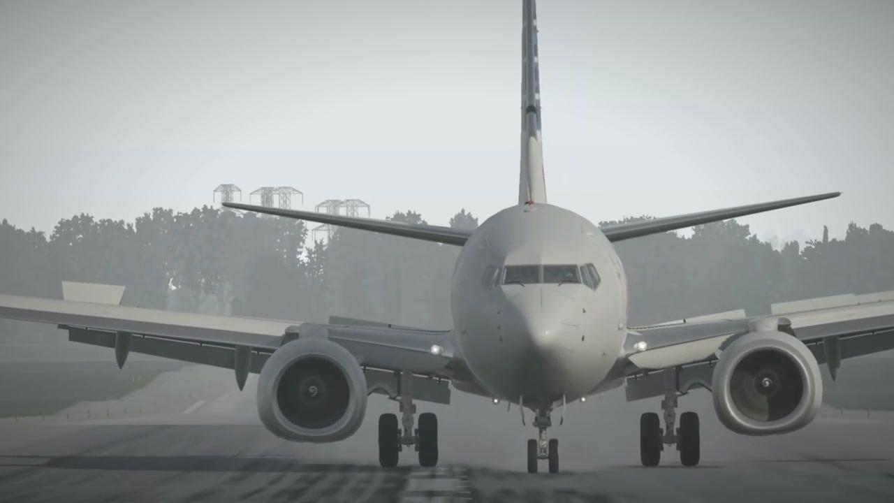 波音737-800大侧风降落