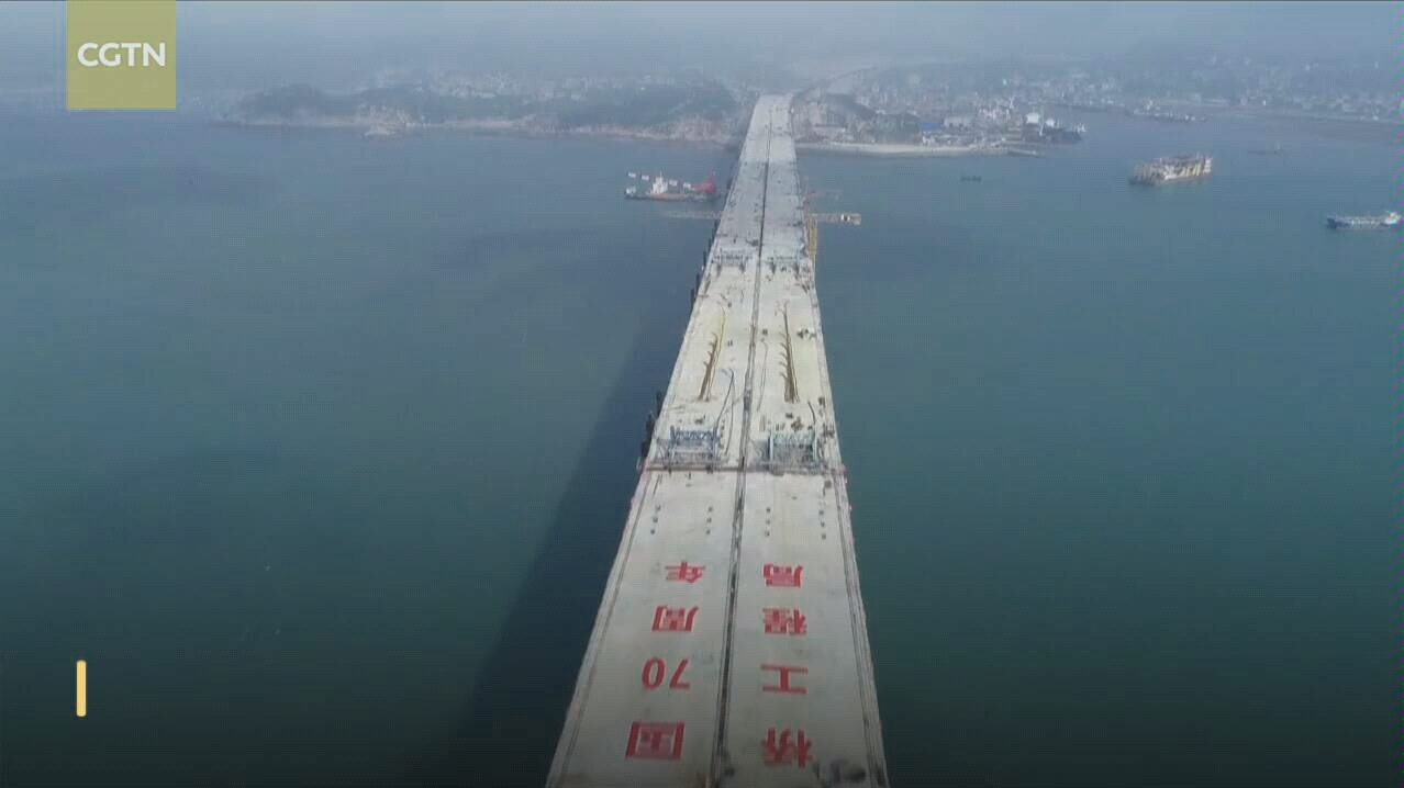 China completes world's 'most difficult' cross-strait road-rail bridge