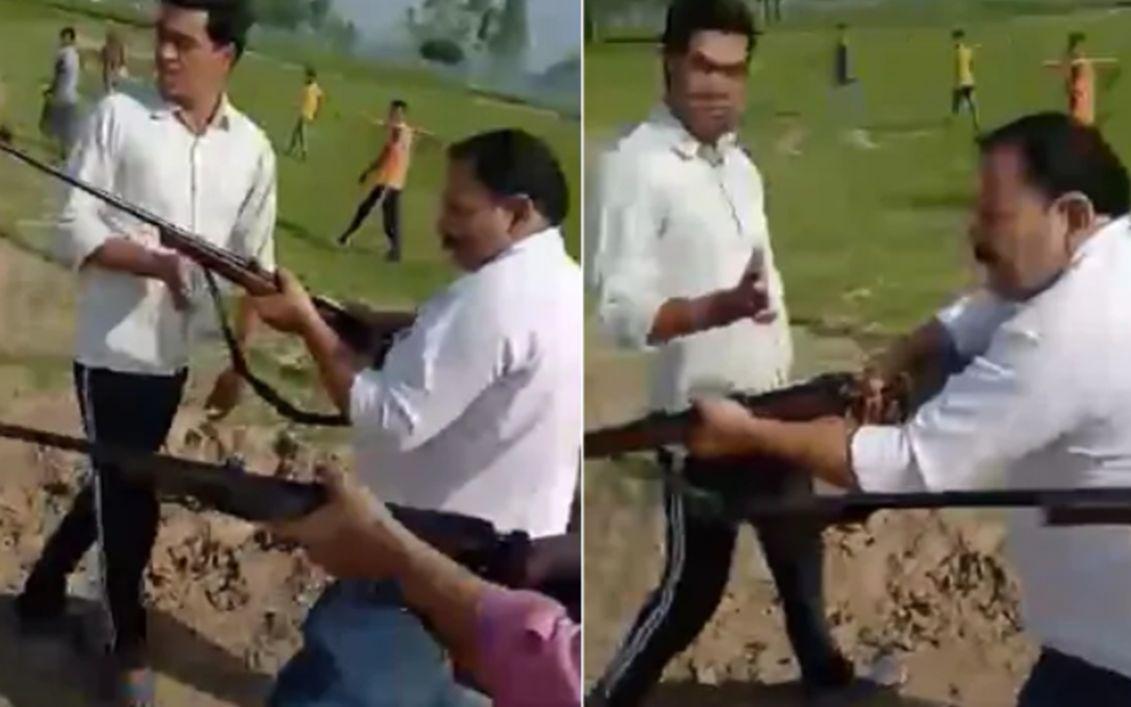 印度官员带儿子视察村落,在镜头前被枪杀