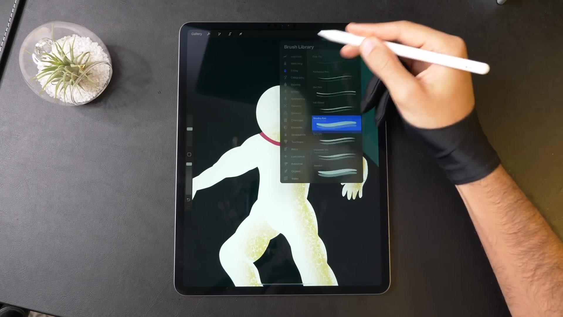 【galshir】用ipadpro画画之宇航员高中英语教学单词ppt图片