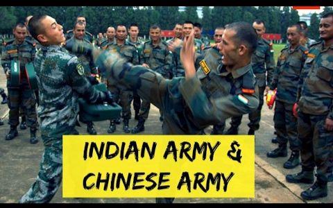 看看中国兵和印度兵一起训练是什么样子的