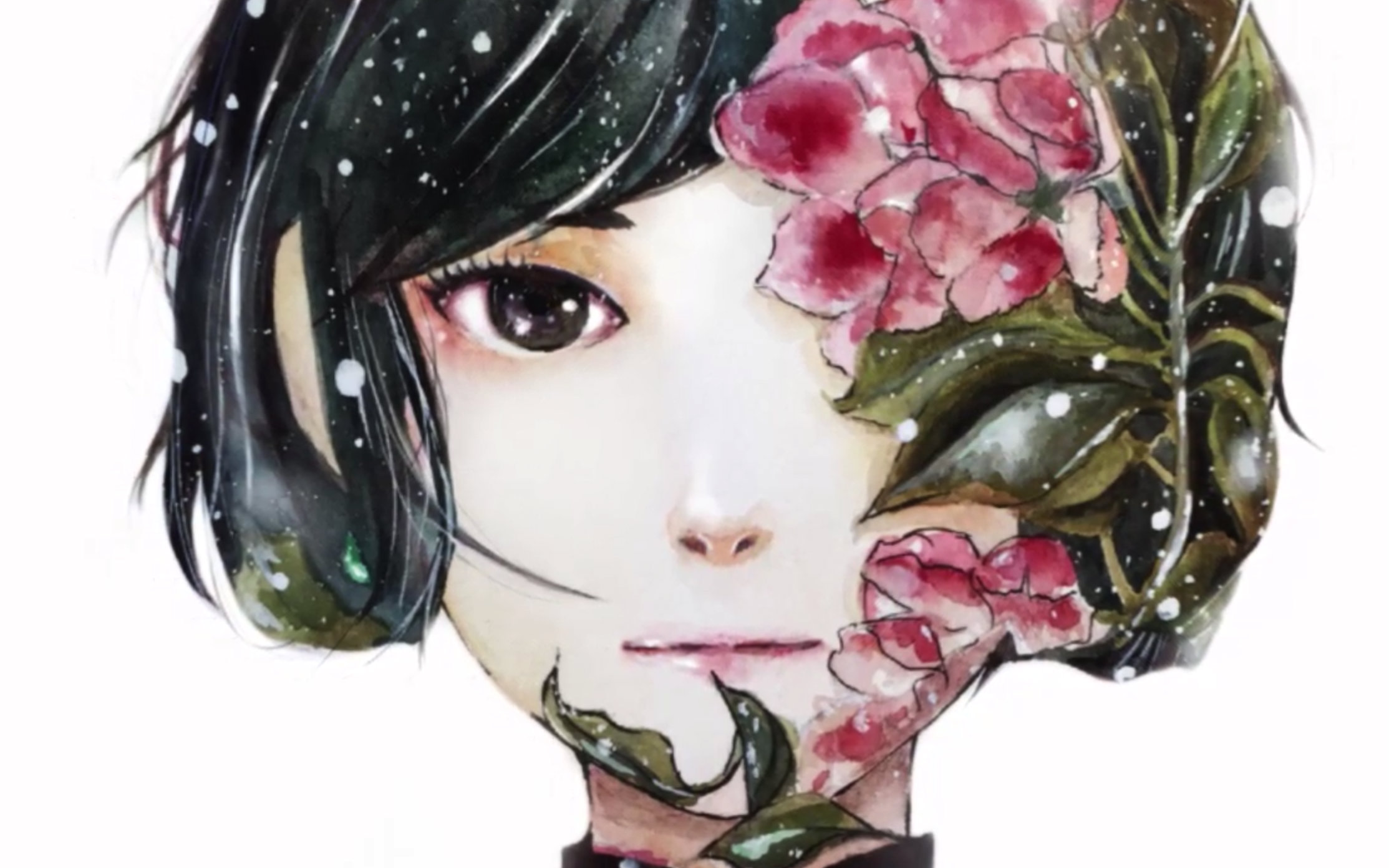大鱼海棠椿绘画