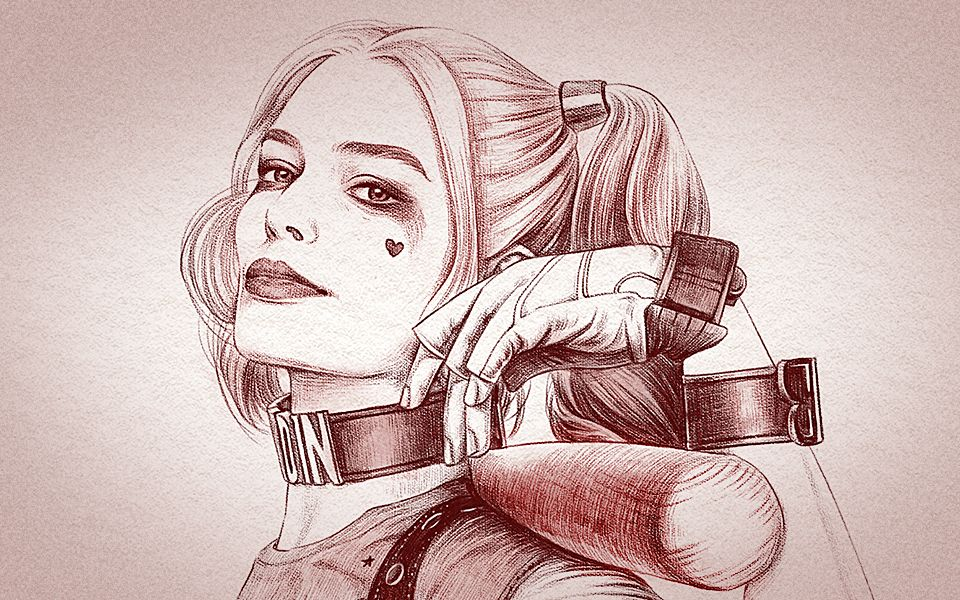 教你ps手绘小丑女:哈莉·奎茵《自杀小队》