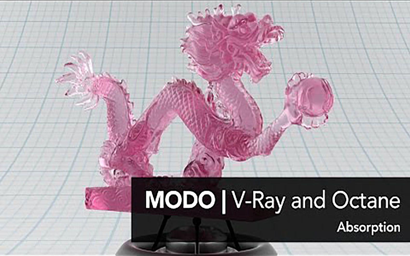 MODO中使用V-Ray和Octane渲染器(三)吸收光_哔哩哔哩 (゜-゜)つロ 干杯~-bilibili