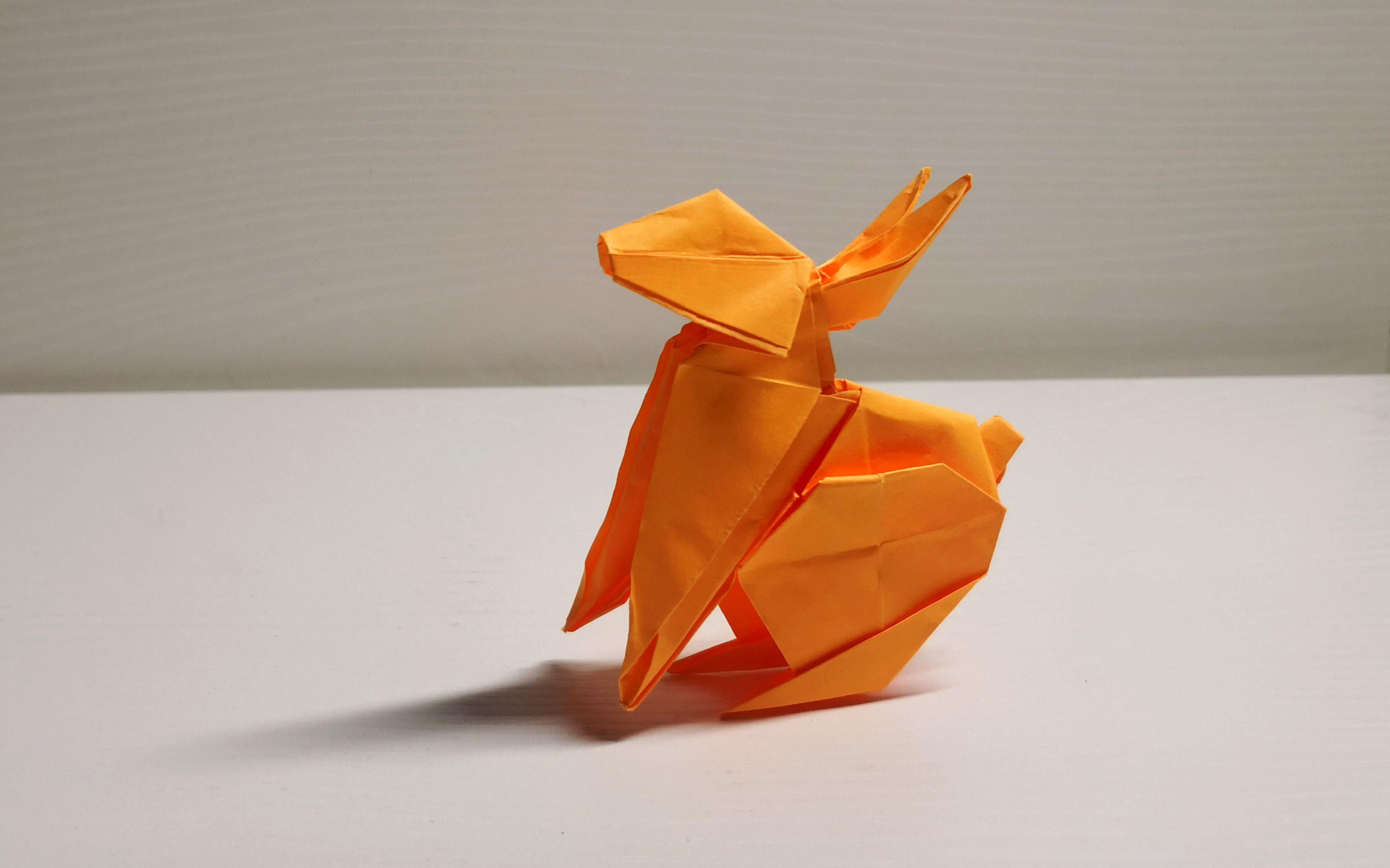 【折纸】实拍折纸视频教程,中国十二生肖的小兔子折纸图片