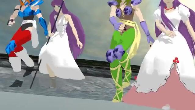 【圣斗士mmd】白银女圣斗士魔铃莎尔娜纱织雅典娜四人的magnet