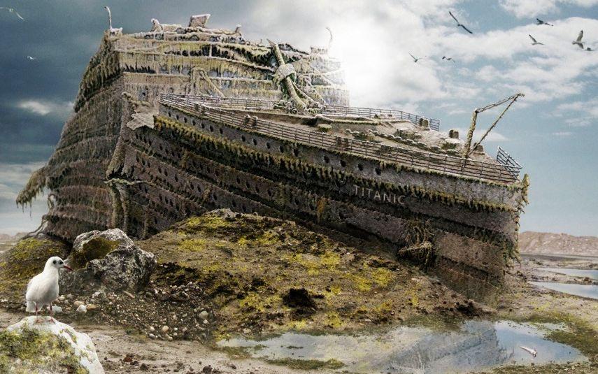 泰坦尼克号 沉没1997版演示动画图片