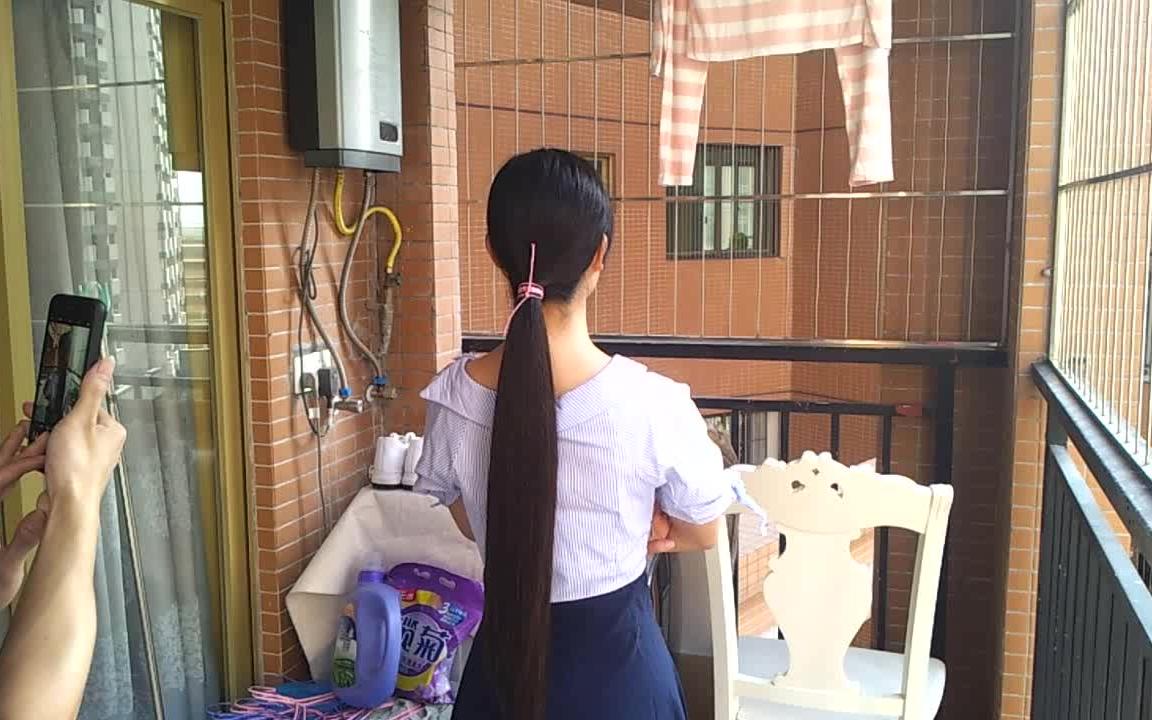 漂亮小姐姐卖长发展示长发 2457#