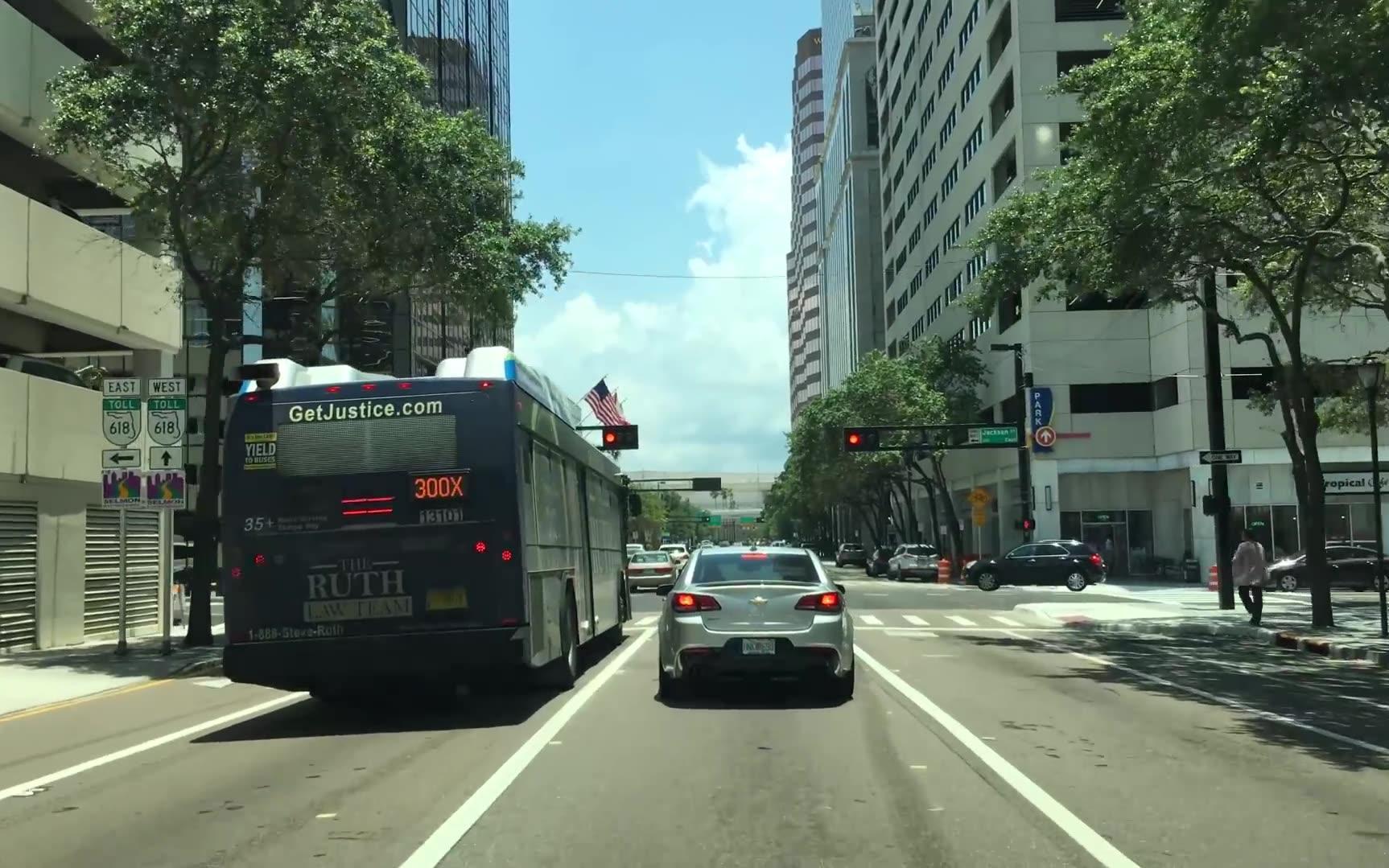 【超清美国】第一视角美国佛罗里达坦帕市街景 Drive 2018.8