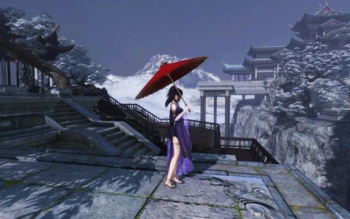 【逆水寒ol二测】-顶级画质【地图-白帝城】图片