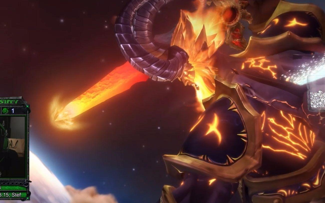 2燃烧王座最终动画 蛋总献祭封印萨格拉斯 艾酱被萨总插出希利苏斯图片