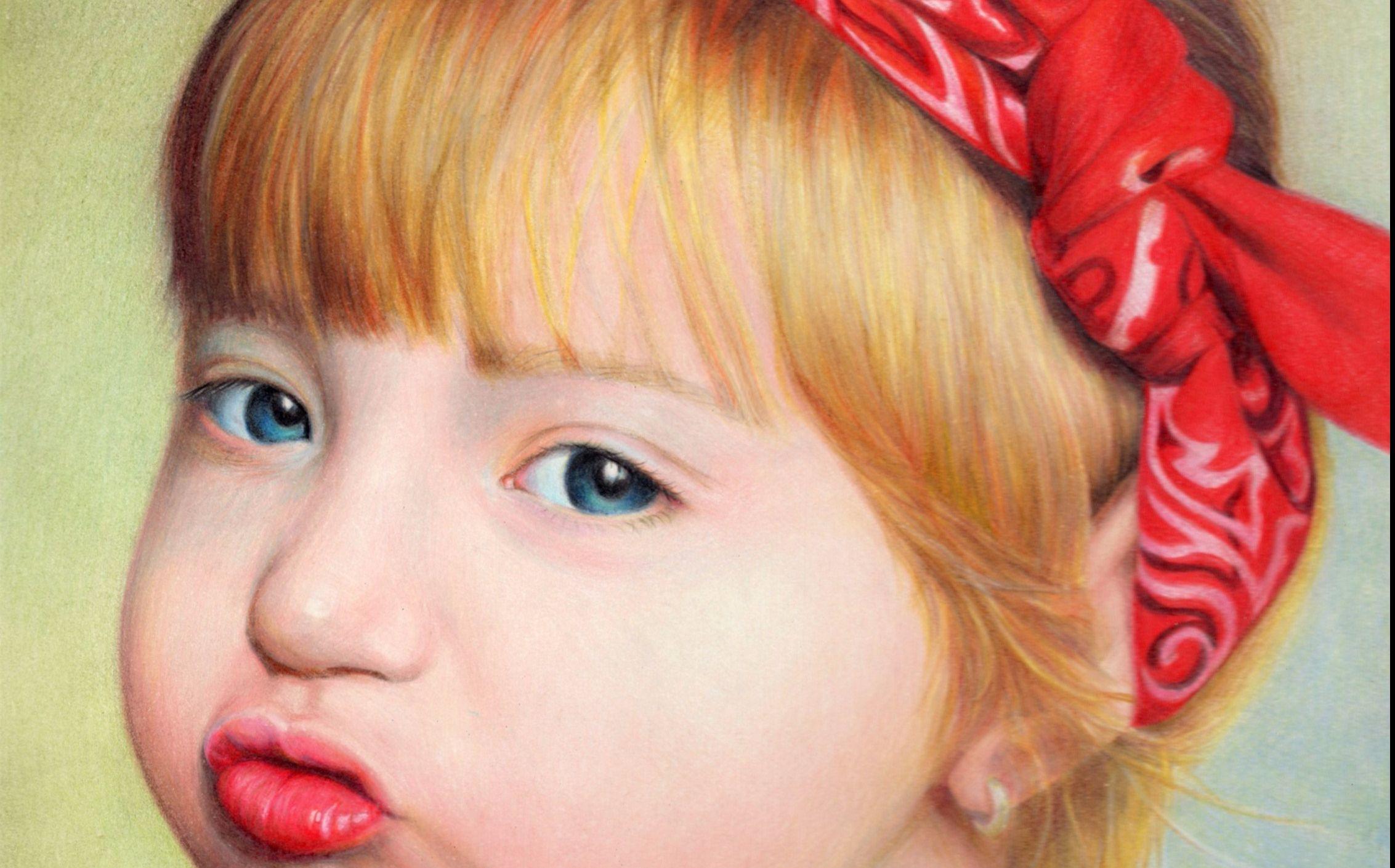 小女孩幼鲍_彩铅画小女孩(人物头像教程)