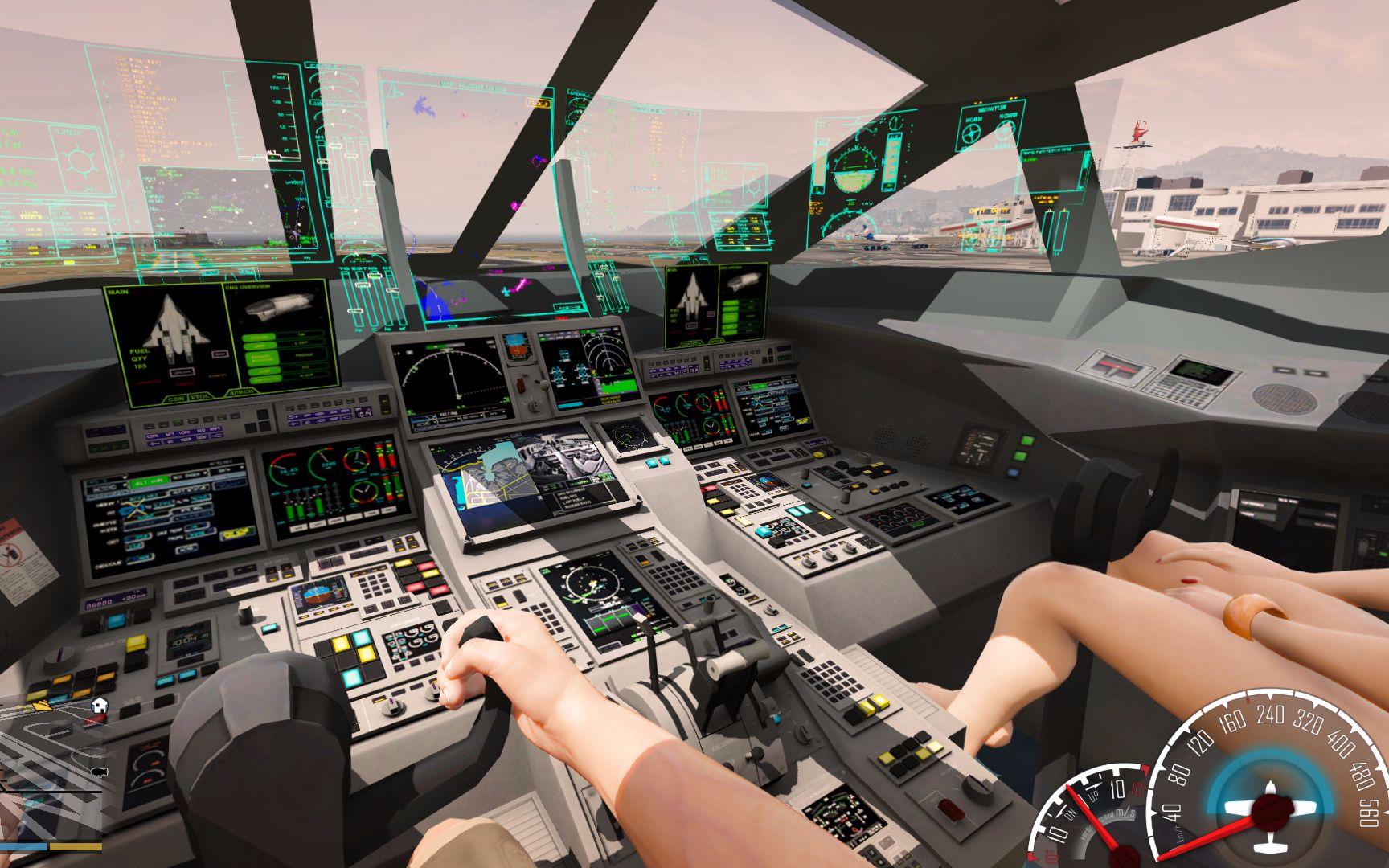 gta5:第一人称驾驶航天飞机