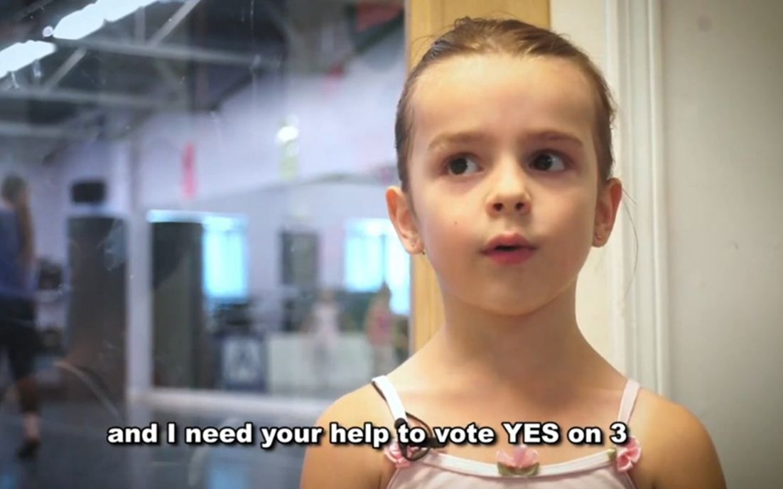 6岁变性儿童Olivia为YesOn3法案呼吁