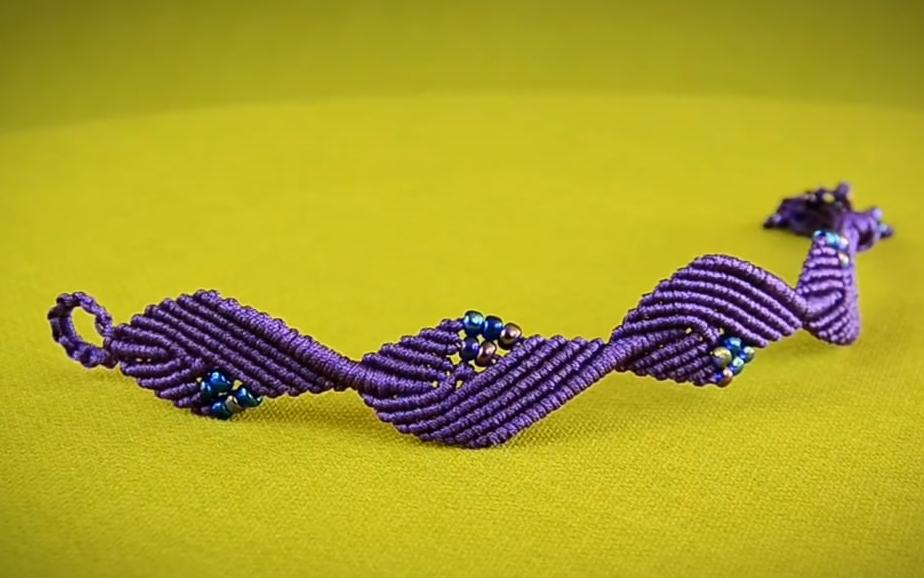 编绳教程-宝石叶手镯图片