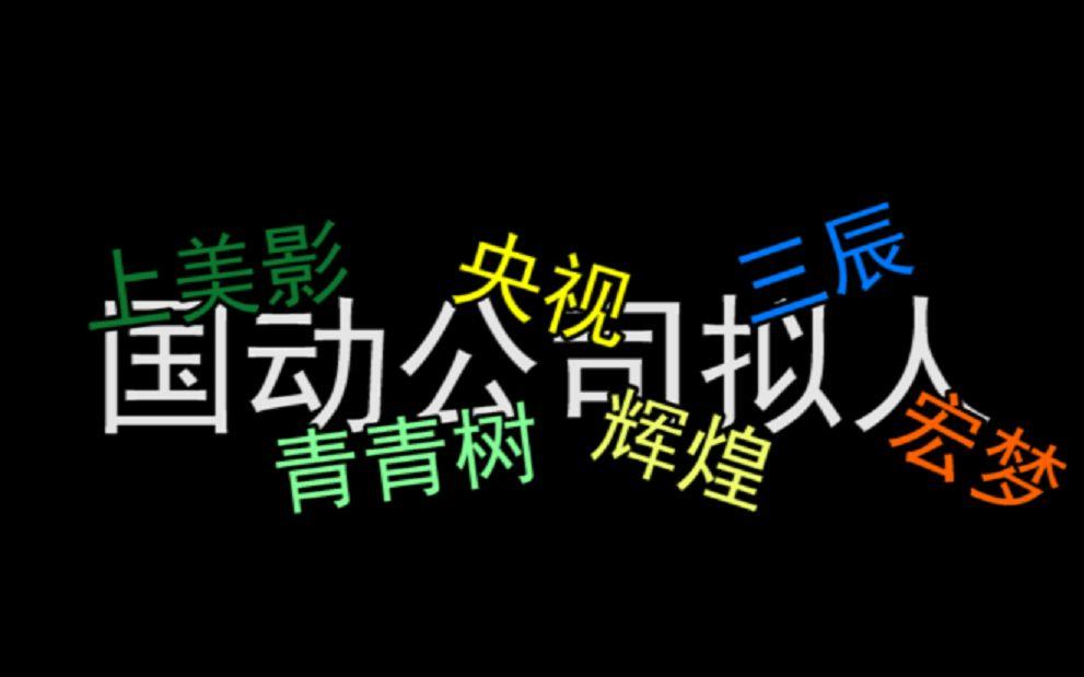 当中国动画公司拟人后变成娱乐圈的故事(2)忆往昔峥嵘岁月稠