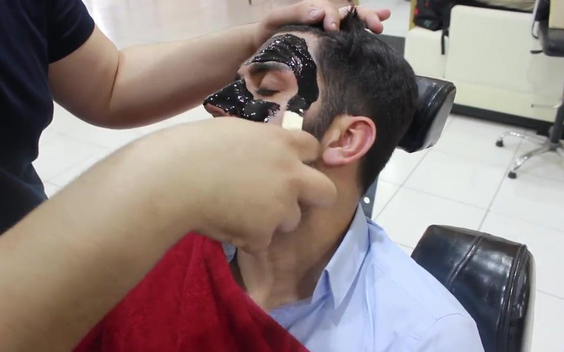土耳其面部按摩Turkish Barber Face,Head and Body Massage with Face Care