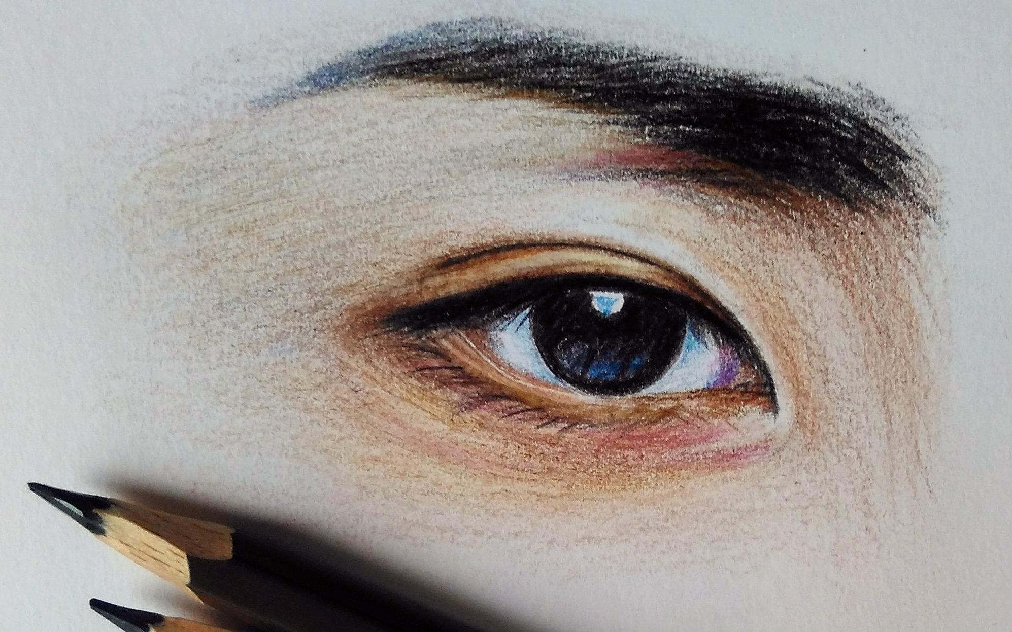 【手绘彩铅】大野智眼睛部分—伪教程