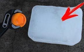 【钢球实验】高温钢球VS冰块