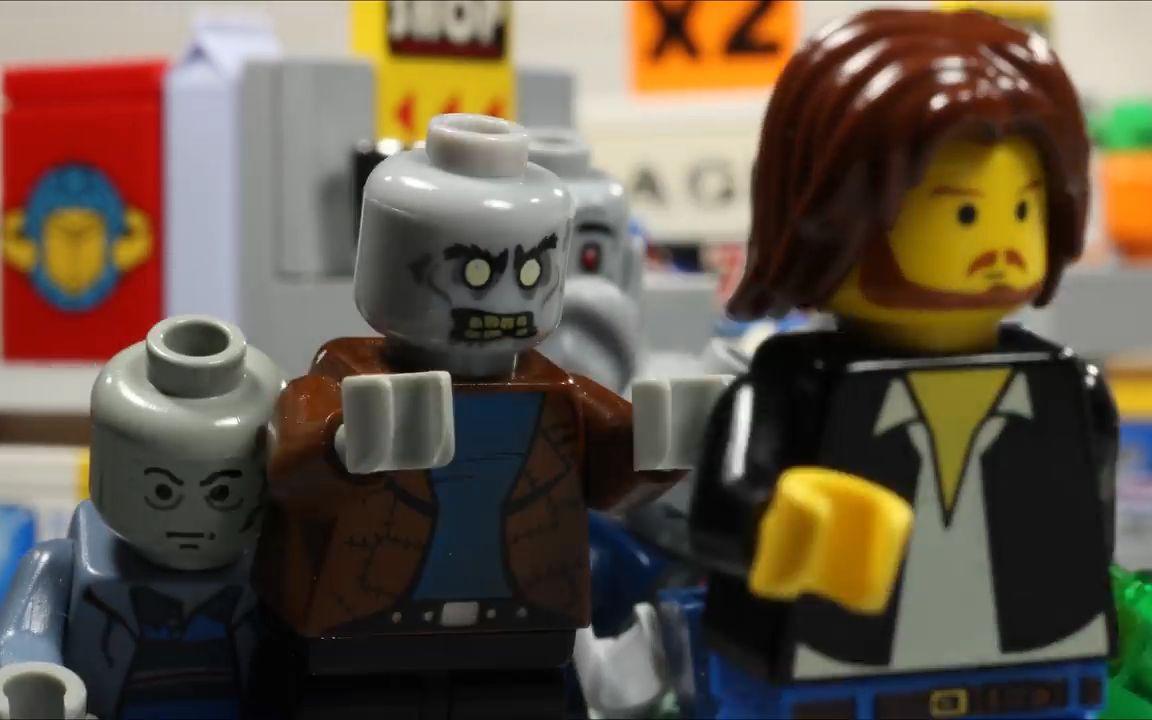 【乐高大电影】之百货动画电影男主穿越到小时候救女主的日本僵尸商场图片