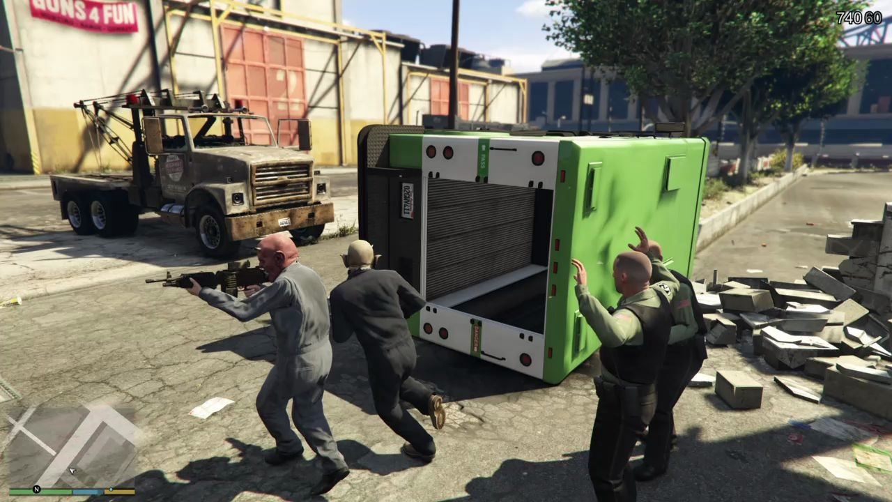 GTA5 FBI闪电突袭 又来抢钱了