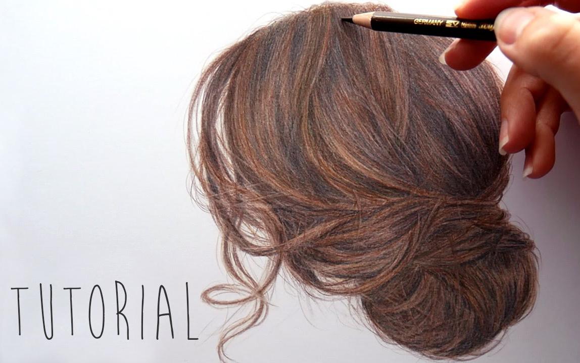【绘画技巧】头发的画法(彩铅)图片