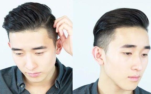 复古油头侧分发型教程,slickback复古背头男士发型图片