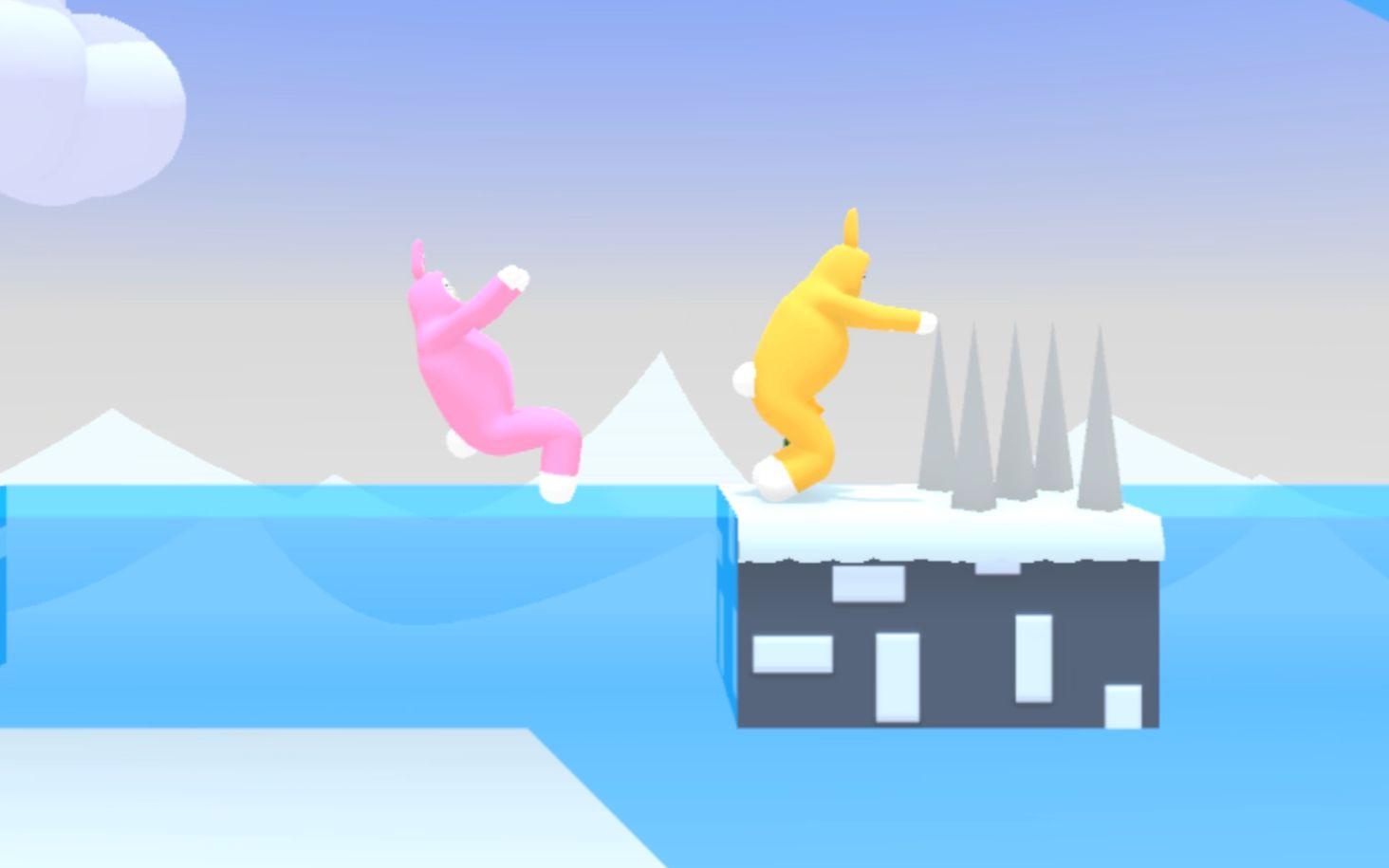 超级兔子人-和妹子变身火箭兔子人搞笑抢萝卜