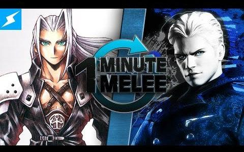 【个人汉化】维吉尔vs萨菲罗斯【乱斗60秒one minute melee】vergil v