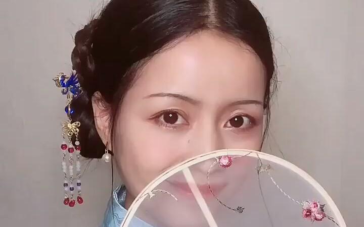 【何初照】无假发 全盘明制发型,结尾附汉服外摄()