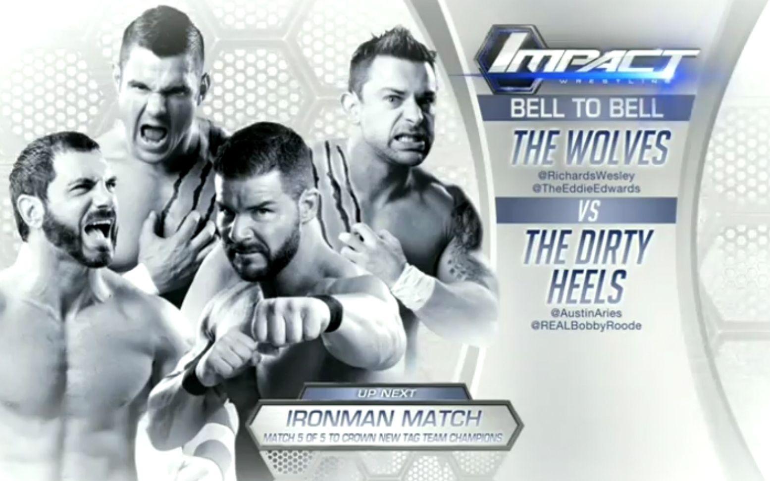 【7.96分】Bobby Roode u0026 Austin Aries vs. Davey Richards u0026 Eddie Edwards TNA 2015