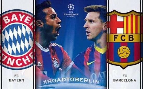 【经典比赛】拜仁2-3巴萨,14-15赛季欧冠半决赛次回合