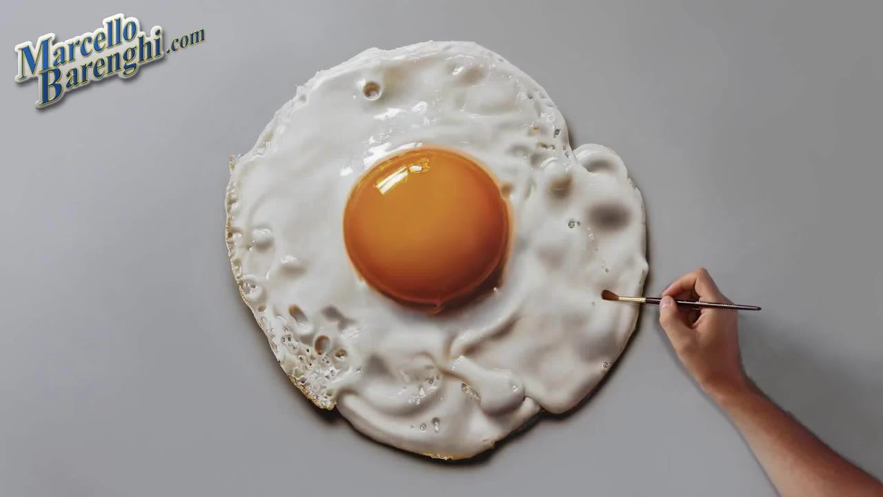 为什么最近画鸡蛋的人这么多?还都这么像,站在旁边的小猫都饿了~