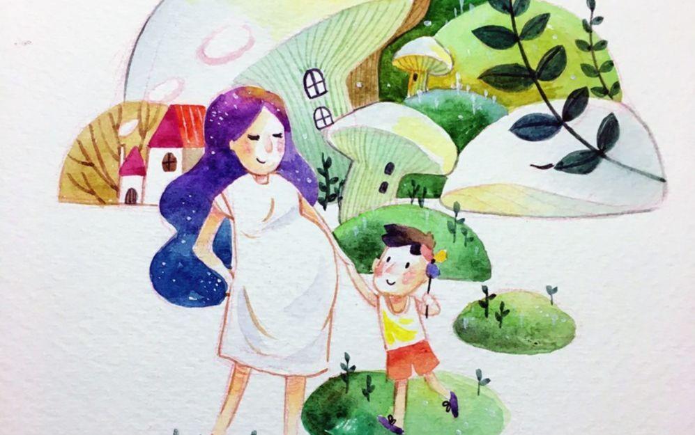 教师童话世界-插画 工作 教师