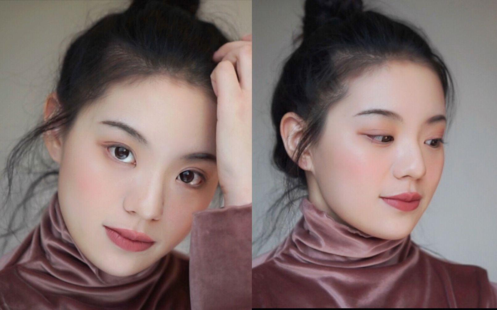 【易烫】满满干货tips的油画质感自然妆容,圆、短脸妹子适用!