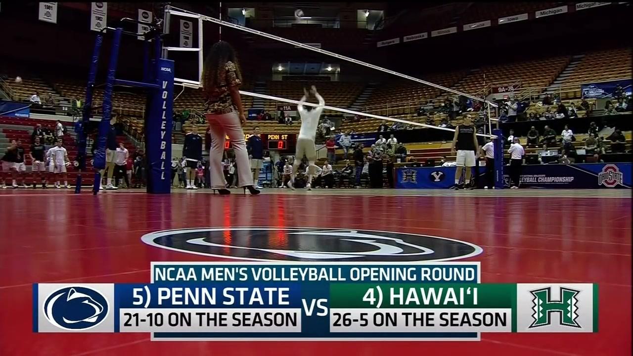 Hawaii Warrior Men's Volleyball 2017 - #4 Hawaii Vs #5 Penn State