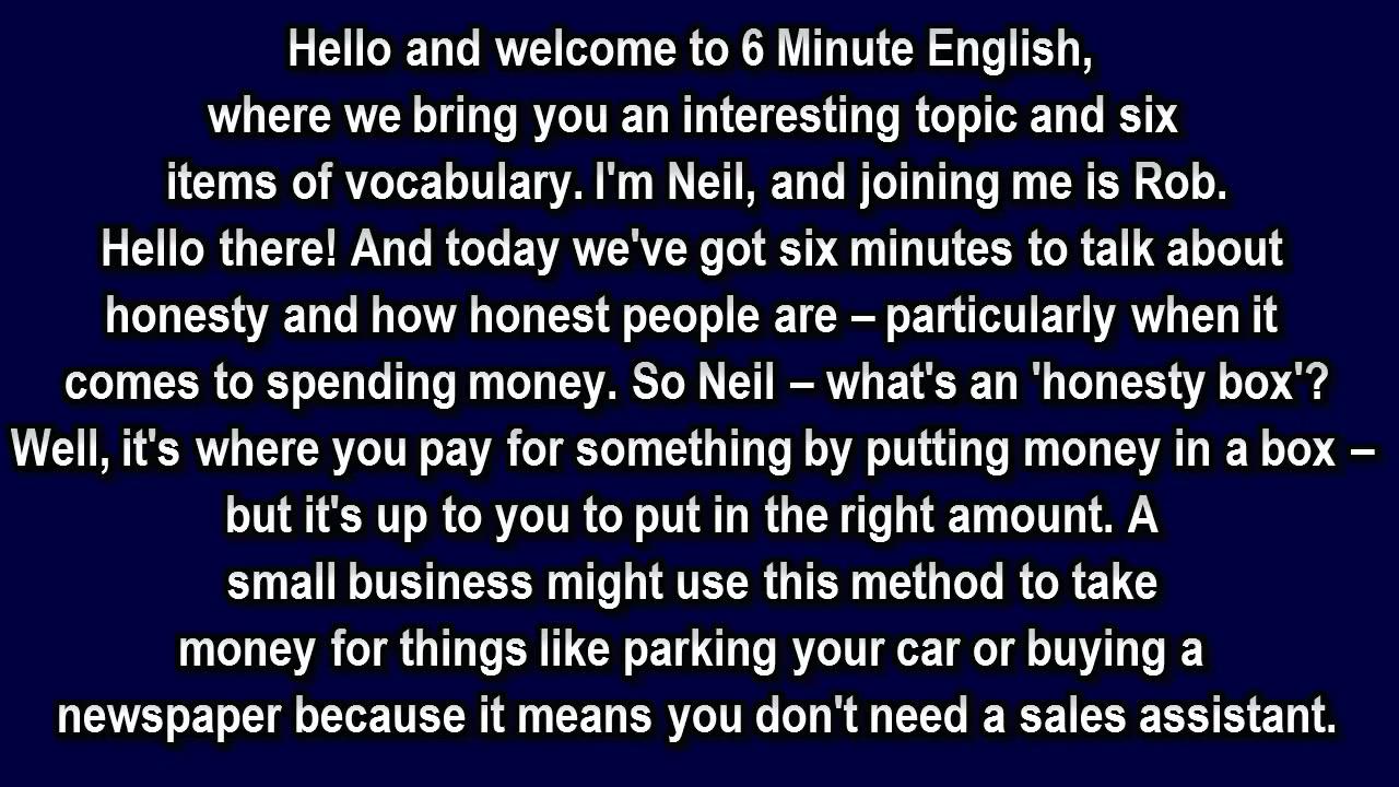 Six minutes english