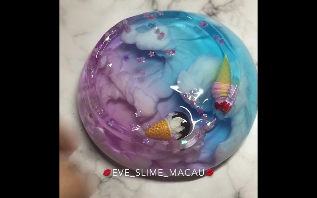 【蛋蛋史莱姆】教你超简单的超透明水晶泥泰透史莱姆!