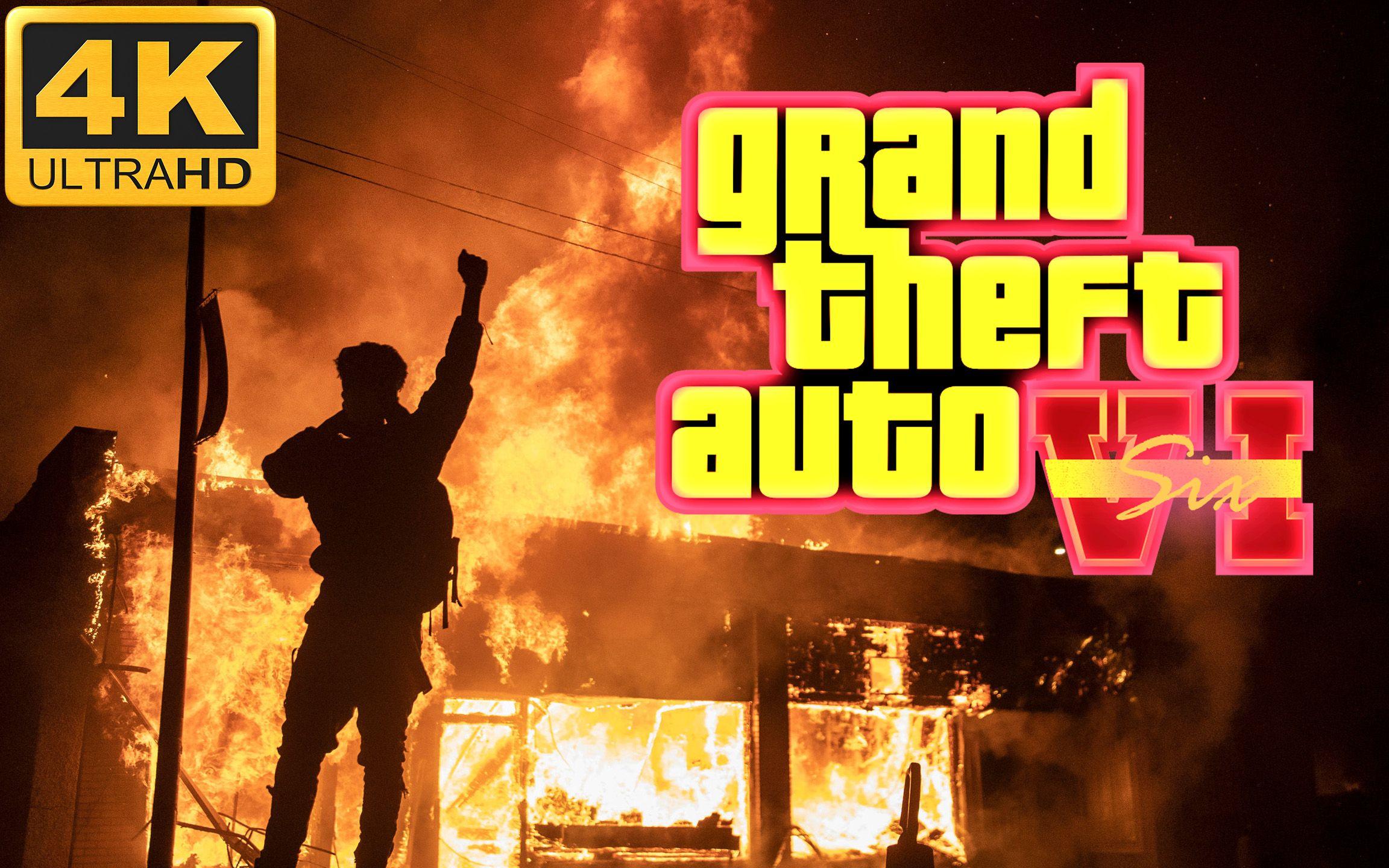 【4K极清】GTA 6—风景线 | 2020全美暴动实况
