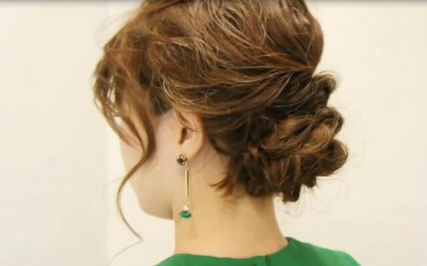 听说你参加婚礼正缺这个美美的发型!编发教程图片