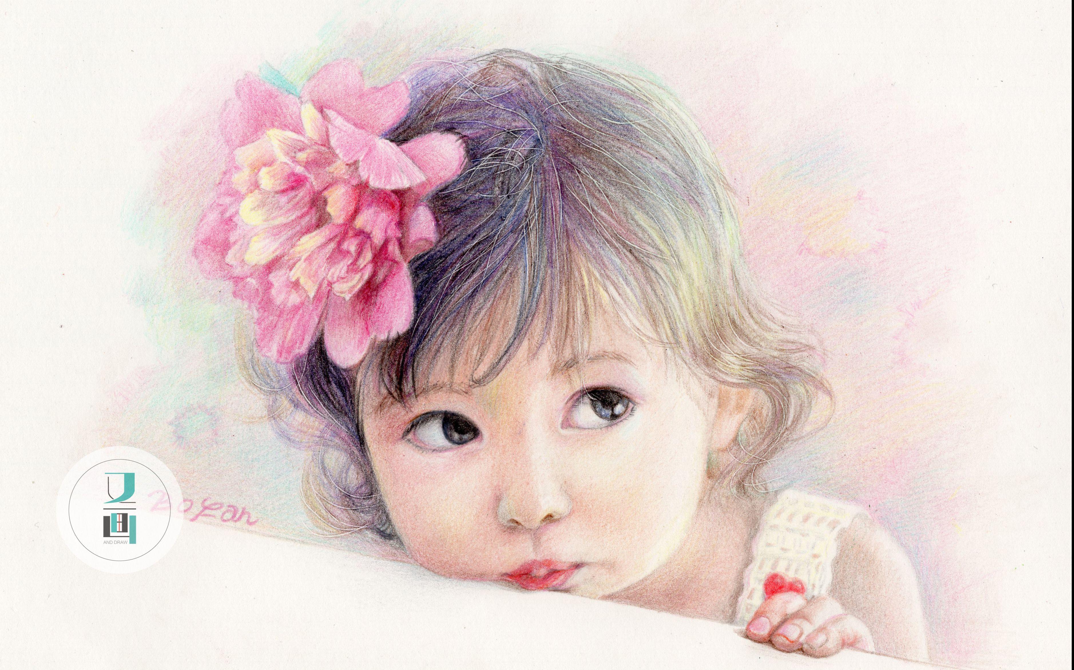 小女孩-彩铅画教程