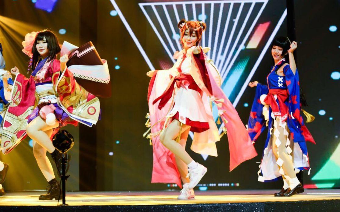 【极乐净土】阴阳师8位coser晚会现场版,燃爆!