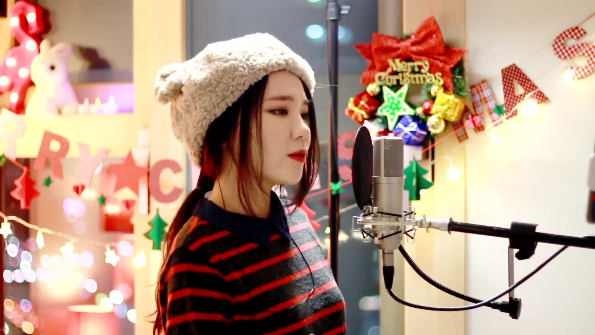狠狠的抽愹�nZI�j�_【超萌小姐姐j.fla】最新翻唱all i want for christmas is you part.