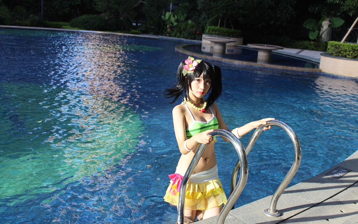 【大妖妖】夏色笑容1,2,Jump!cos妮可夏色泳衣
