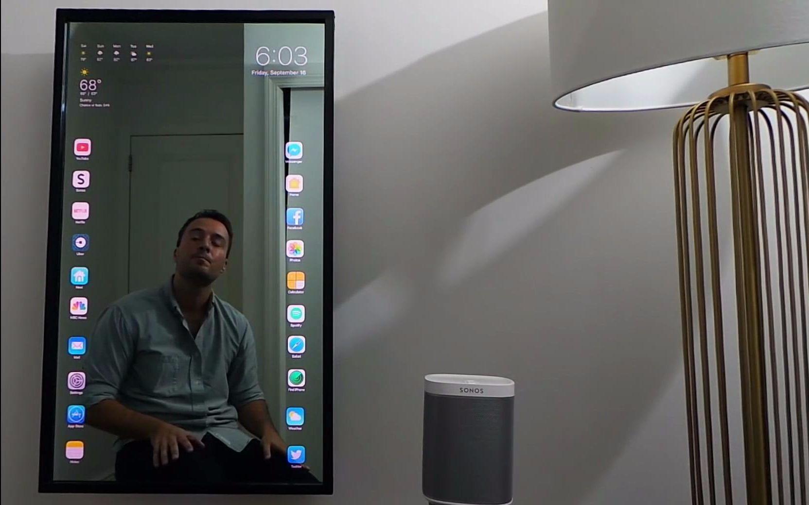 魔镜qq台球瞄准器_【ios10】小哥自制苹果智能触屏魔镜_还有我的siri呢?