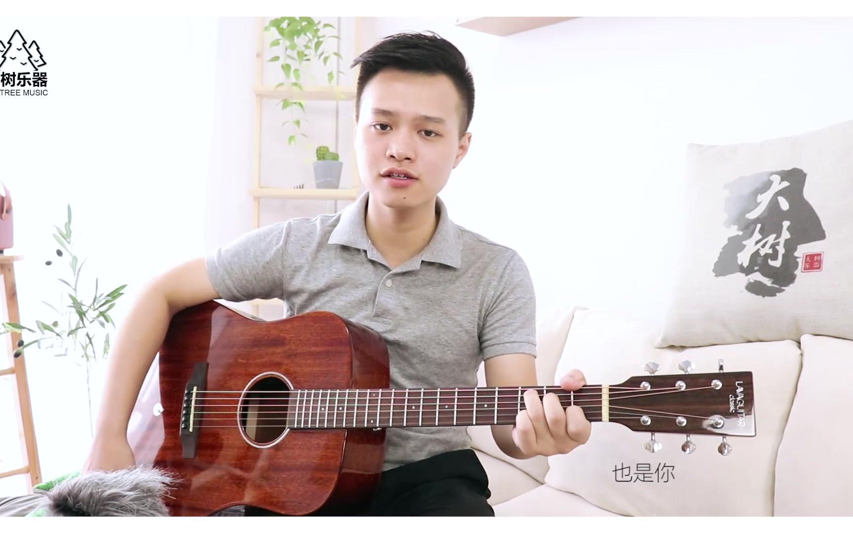 《往后余生》超还原泛音版-吉他弹唱翻唱-大树乐器-拿火吉他